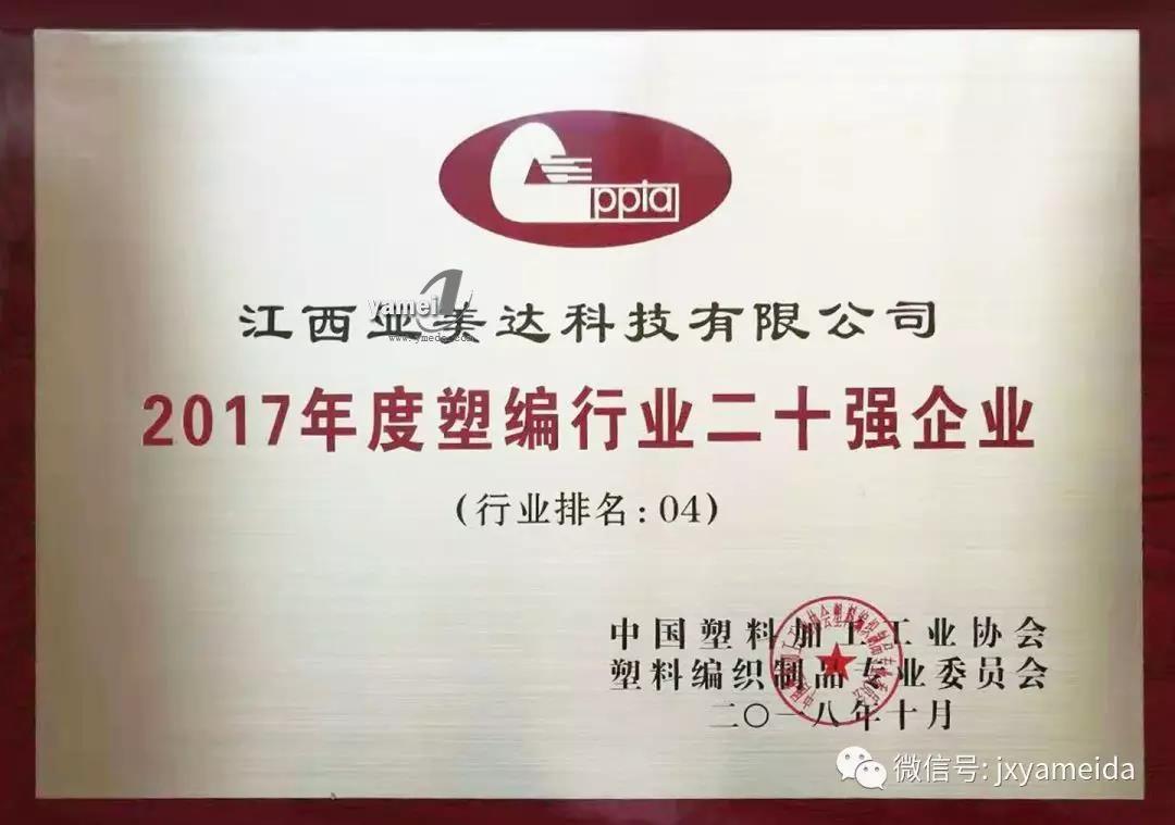 2017年度塑编行业二十强